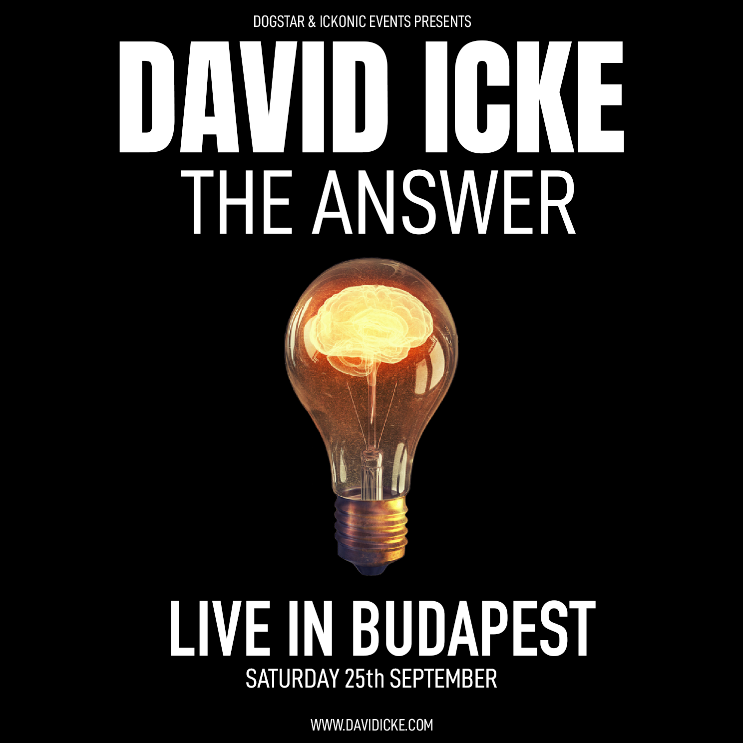 David Icke - Live In Budapest - The Answer - Saturday 25th September