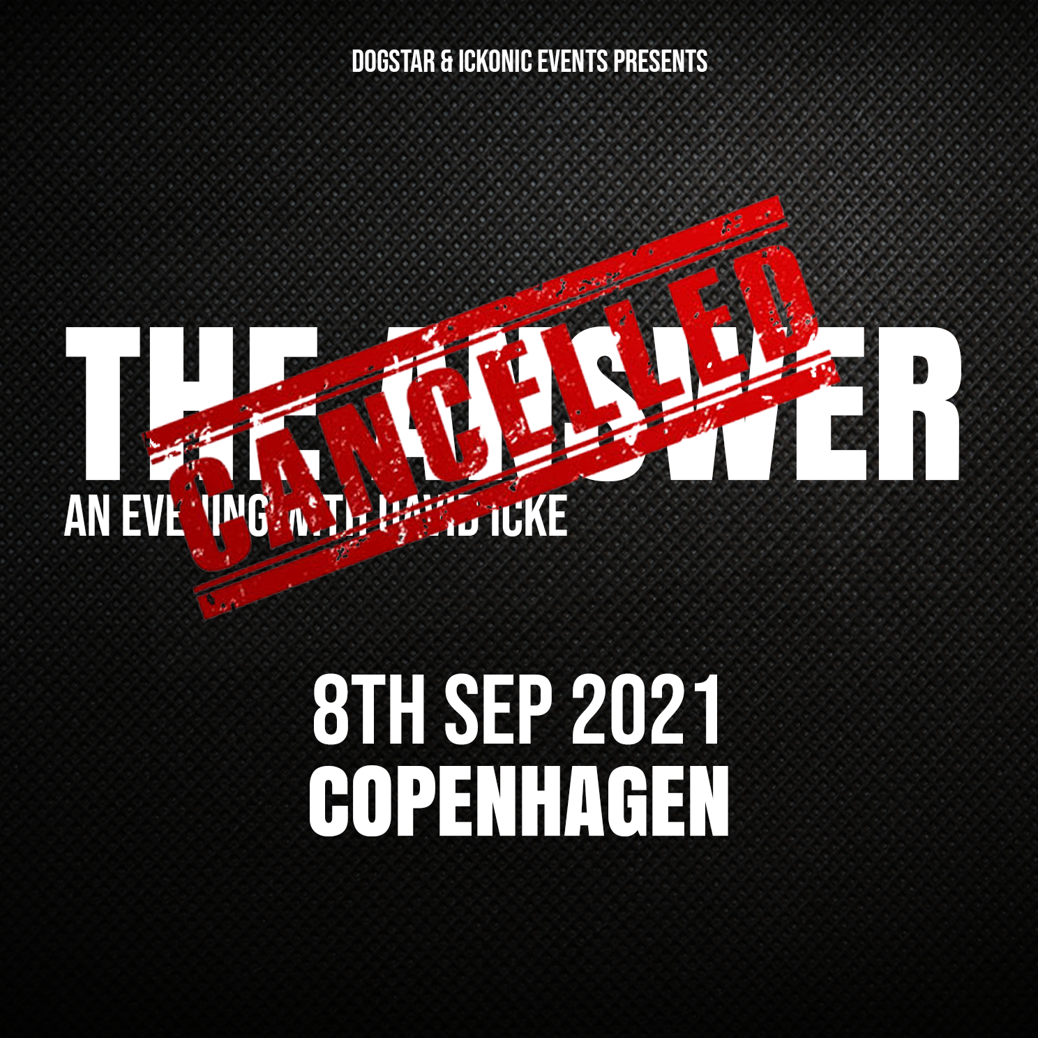 David Icke - Live In Copenhagen - The Answer - Wednesday 8 September