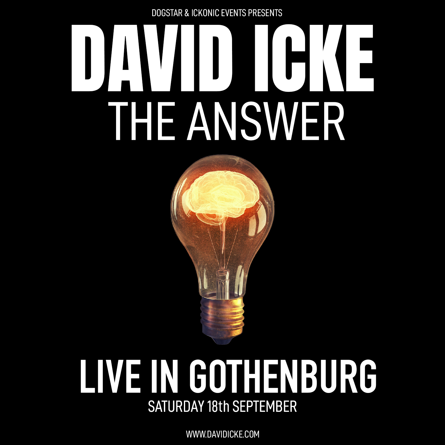 David Icke - Live In Gothenburg - The Answer - Saturday 18th September