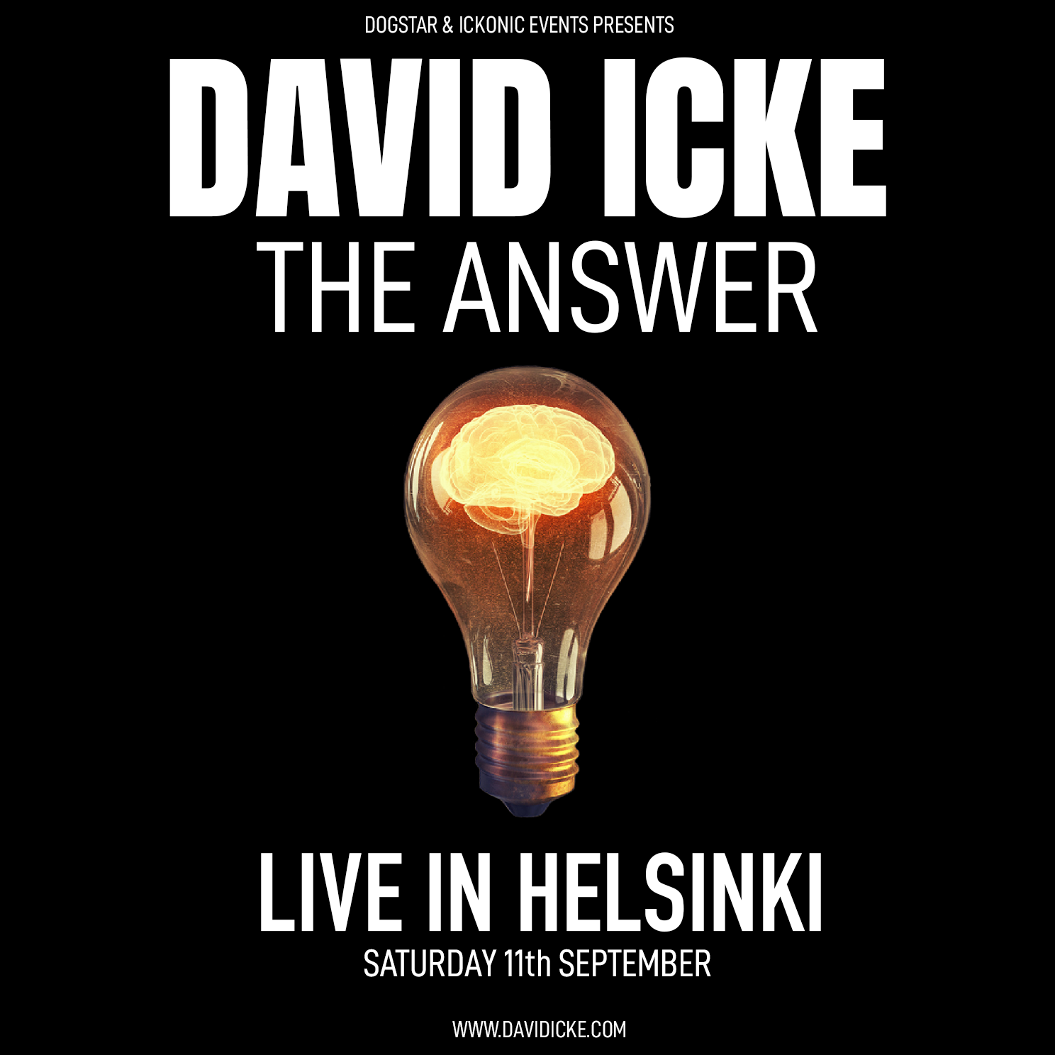 David Icke - Live In Helsinki - The Answer - Saturday 11th September