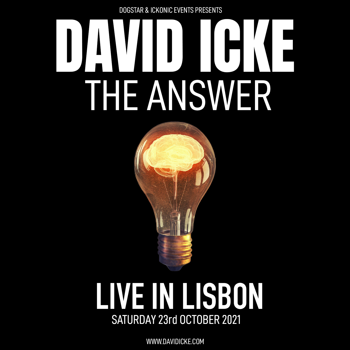 David Icke - Live In Lissabon - The Answer - Saturday 23th October