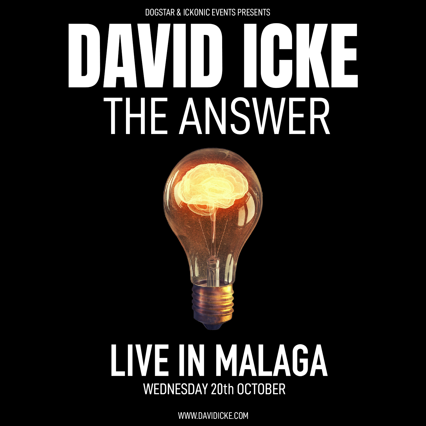 David Icke - Live In Malaga - The Answer - Wednesday 20th October
