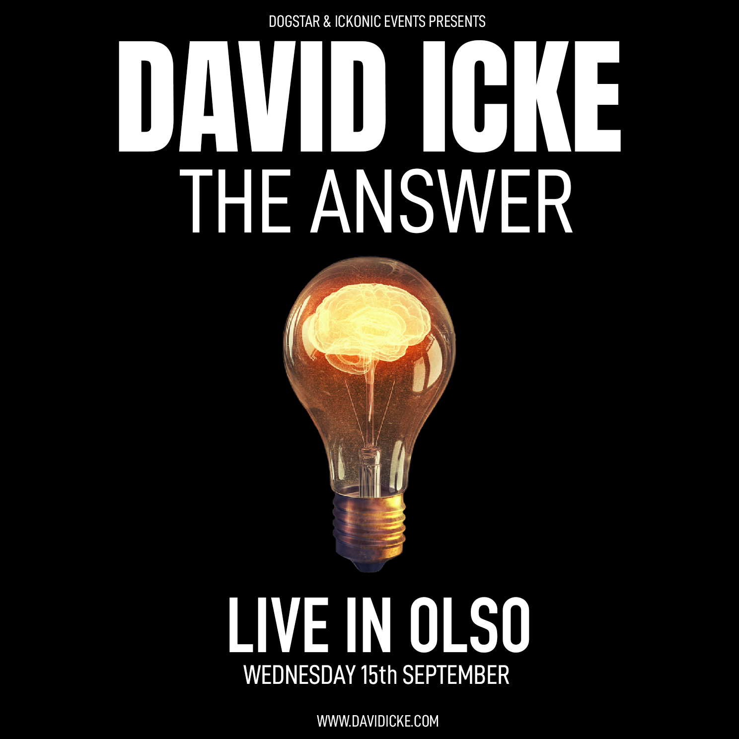 David Icke - Live In Oslo - The Answer - Wednesday 16th September